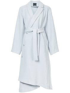 пальто с длинными рукавами с поясом Aula