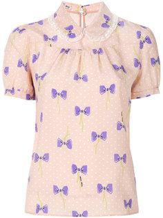 рубашка с принтом бантов Miu Miu