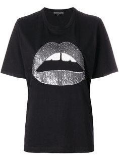 футболка с пайетками Alex lips Markus Lupfer