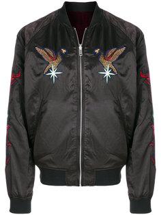 куртка-бомбер с заплаткой с орлом Diesel