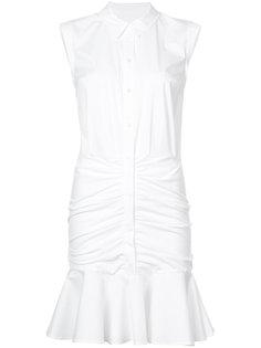платье-рубашка с оборками Veronica Beard