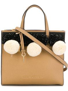 сумка-тоут с помпонами Marc Jacobs
