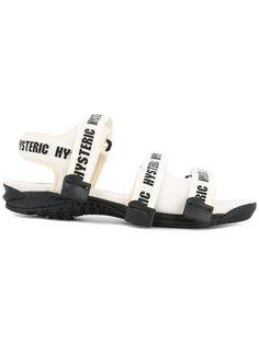 сандалии с ремешками с принтом логотипа Hysteric Glamour