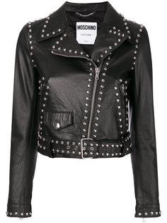 байкерская куртка с заклепками  Moschino