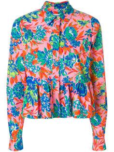 рубашка с баской с принтом Tropical jungle  MSGM