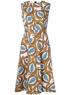 платье миди с растительным принтом  Marni