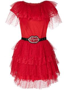 тюлевое мини-платье  MSGM