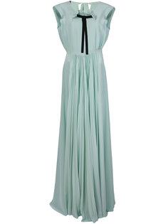 платье с плиссировкой и бантом спереди Rochas