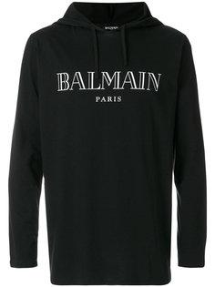 толстовка с принтом-логотипом  Balmain