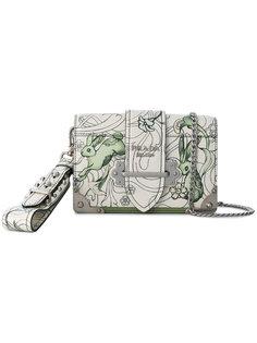 сумка через плечо с графическим принтом Prada