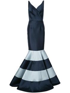 сатиновое вечернее платье Raquel с полосками Sachin & Babi