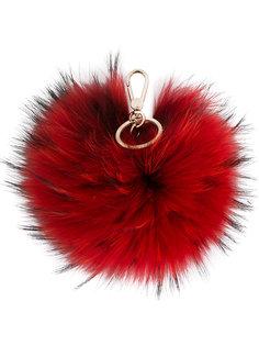 брелок Bubble с меховым помпоном Furla