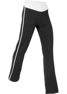 Расклешенные брюки (черный) Bonprix