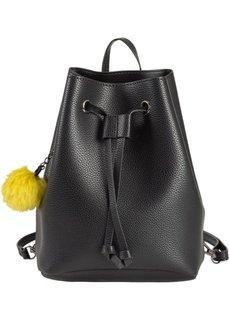 Рюкзак-мешок (черный/зеленый лайм) Bonprix
