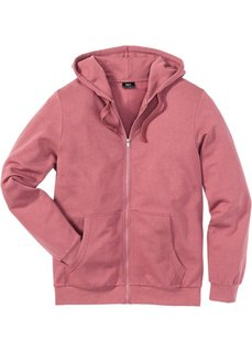 Трикотажная куртка стандартного покроя с капюшоном (ягодный) Bonprix