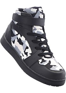 Кеды высокие (черный/серый камуфляжный) Bonprix