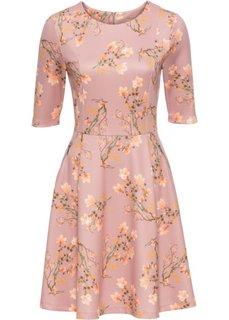 Платье из материала под неопрен (розовый в цветочек) Bonprix