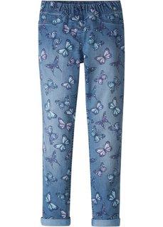 Джеггинсы с принтом (синий «потертый» с рисунком) Bonprix