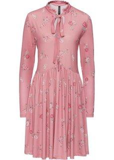 Платье с цветочным принтом (пепельно-розовый в цветочек) Bonprix
