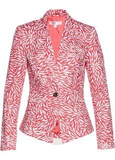 Жакет-стретч (нежный ярко-розовый/белый с рисунком) Bonprix