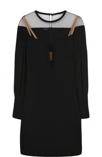 Приталенное мини-платье с высоким разрезом La Perla