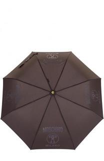 Складной зонт с логотипом бренда Moschino