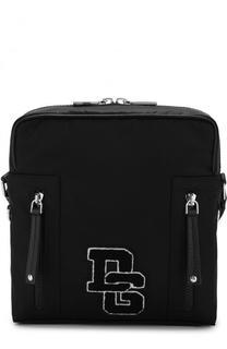 Текстильная сумка-планшет с кожаной отделкой Dolce & Gabbana