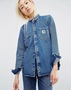 Приталенная джинсовая рубашка Carhartt WIP - Синий