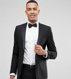 Черный приталенный пиджак-смокинг ASOS TALL - Черный
