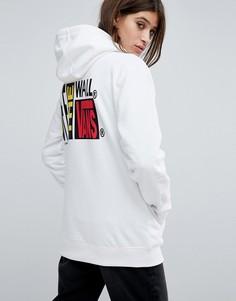 Оверсайз-худи белого цвета с логотипом Vans - Белый