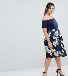 Платье 2 в 1 с цветочным принтом AX Paris Plus - Мульти