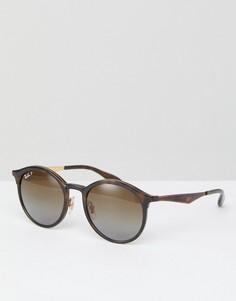Круглые черепаховые солнцезащитные очки Ray-Ban 0RB4277 - 51 мм - Коричневый