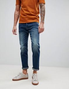Выбеленные джинсы слим G-Star D-Staq 5-pkt - Синий