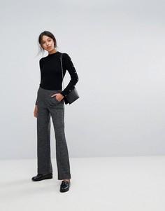 Строгие брюки с широкими штанинами Esprit - Черный