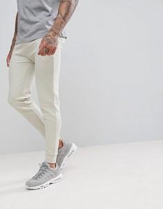Бежевые облегающие спортивные штаны ASOS - Бежевый