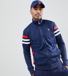 Горнолыжная куртка с полосками на рукавах Fila Black Line - Темно-синий