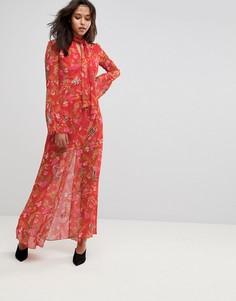 Платье макси с цветочным принтом Millie Mackintosh - Красный