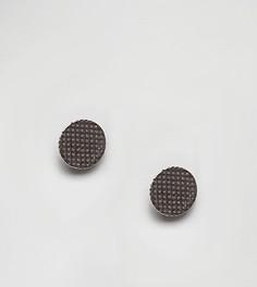 Круглые серебряные серьги DesignB эксклюзивно для ASOS - Серебряный