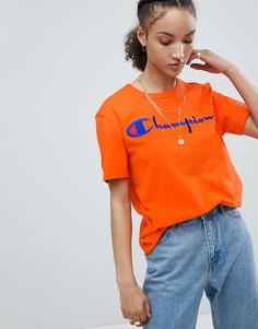 Футболка с логотипом и круглым вырезом Champion - Оранжевый