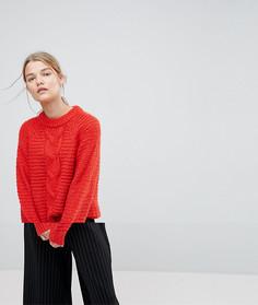 Джемпер крупной вязки Selected Femme - Красный