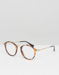 Круглые очки Ray-Ban 0RX2447V - Коричневый