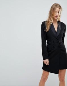 Приталенное платье-блейзер Boohoo - Черный