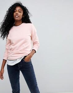 Свитшот с контрастной отделкой Selected Femme - Розовый