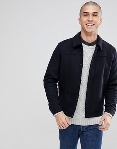Куртка Харрингтон с добавлением шерсти Only & Sons - Темно-синий