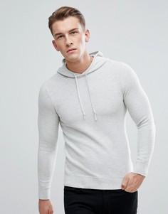 Трикотажное худи цвета экрю Burton Menswear - Кремовый