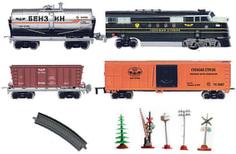 Железная дорога Голубая стрела Паровоз с тремя вагонами 87124