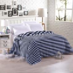 Плед Hongda Полоса 2x2.2m Blue 857312