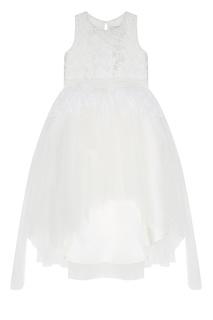 Белое платье с перьями Princess Swan Balloon and Butterfly
