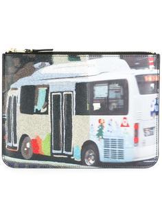клатч с застежкой-молнией и принтом автобуса Comme Des Garçons Wallet
