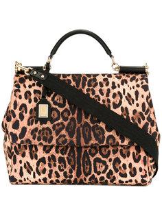леопардовая сумка-тоут Dolce & Gabbana